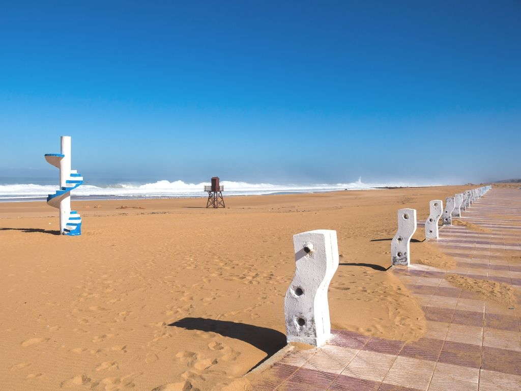 Beddouza beach in Morocco