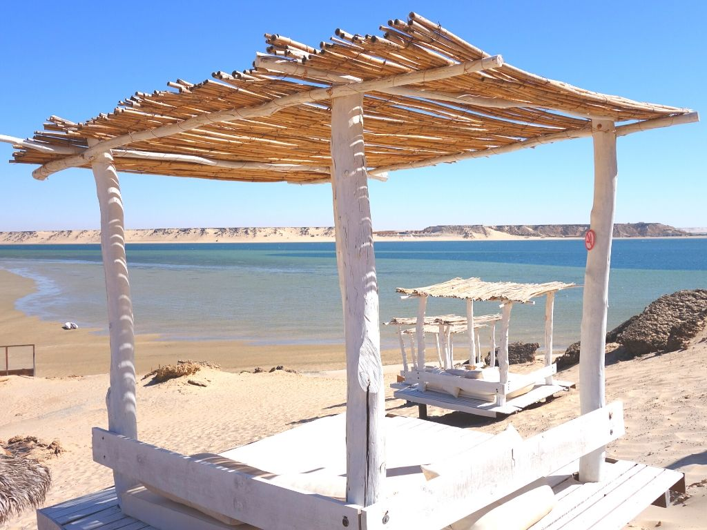 Dakhla beach in Morocco