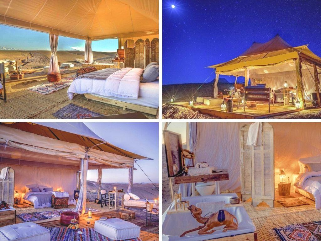 Luxury desert camp in Agafay