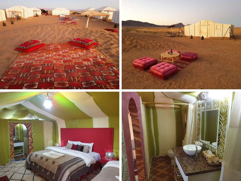Luxury desert camp in Zagora