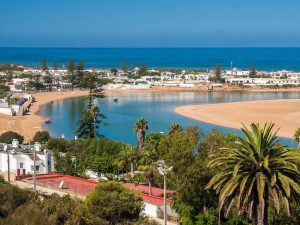 Oualidia beach in Morocco