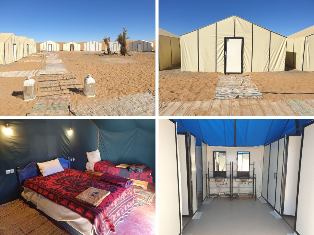 Standard desert camp in Merzouga