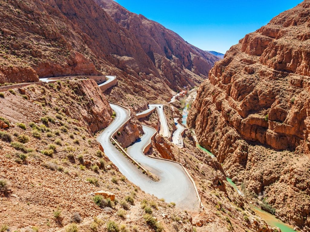 Tissadrine road in Dades Valley Morocco