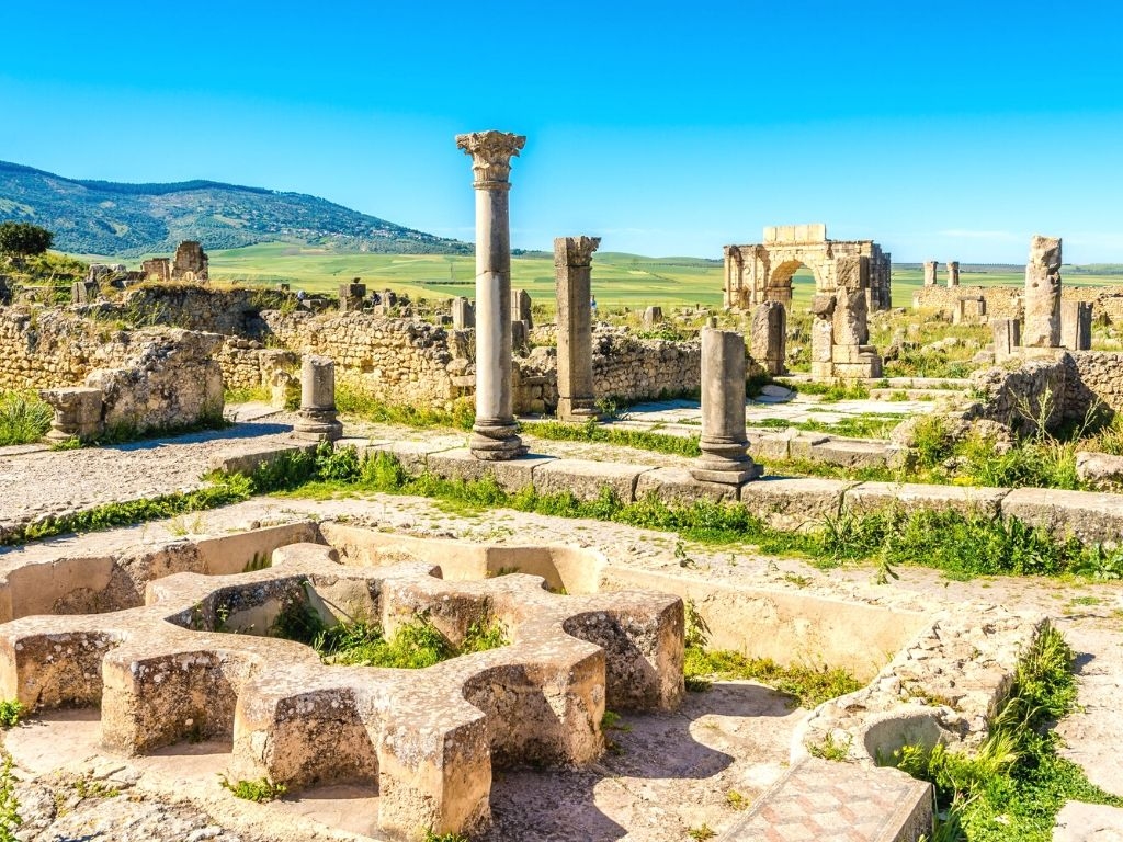 Volubilis Archaeological site Morocco