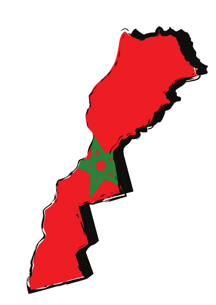 Map of Morocco with best places to visit in Morocco
