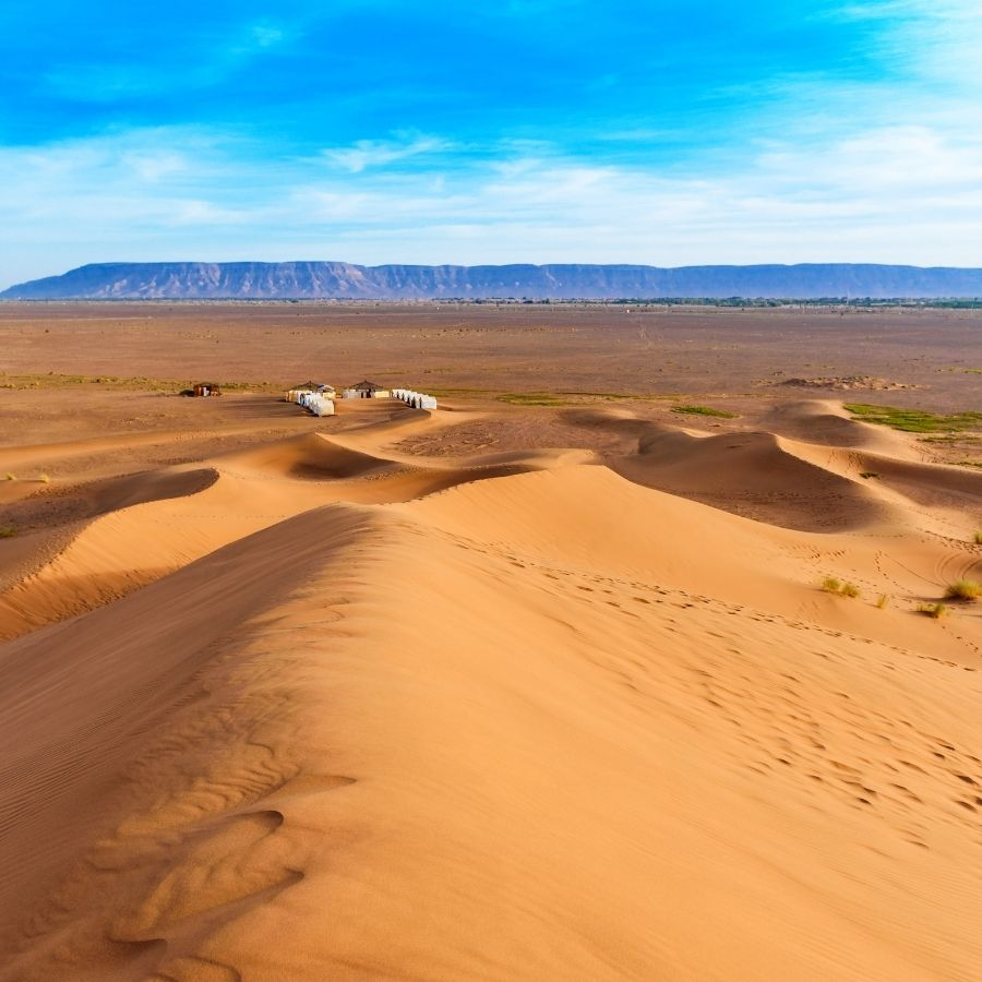 Tinfou Dunes in Morocco